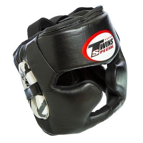 Шлем боксерский с полной защитой Twins натуральная кожа