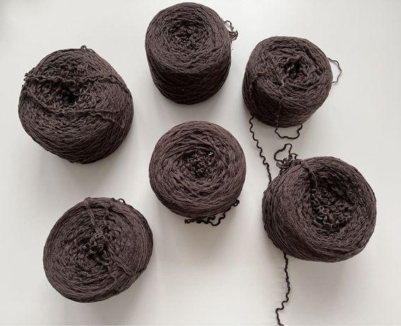 Włóczka bawełna ciemny brąz 720 gram