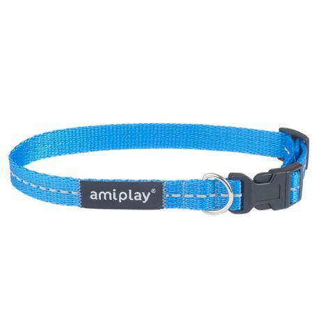 Amplay Obroża Odblaskowa Reflective M Niebieska 25-40cm