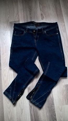 Spodnie jeansy Bershka zamki M
