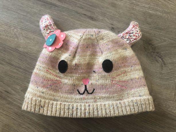 Утеплённая шапка осенняя с ушками