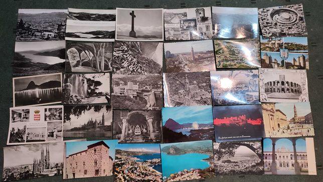 Lote 100 postais estrangeiros antigos - Não Circulados