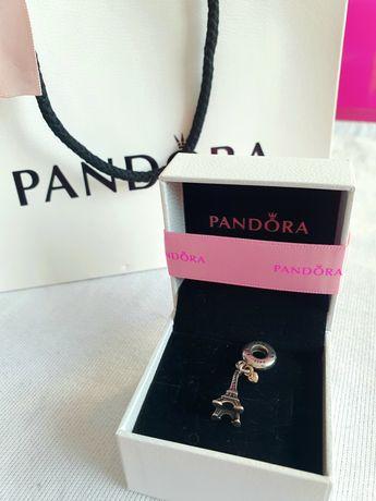 Oryginalny charms Pandora I love Paris z serduszkiem ze złota
