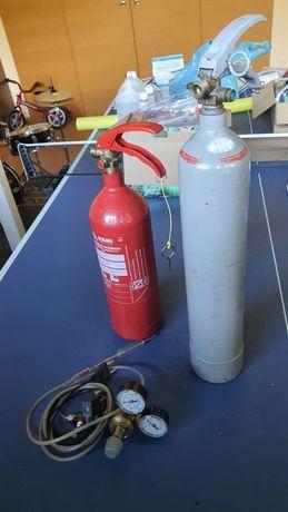 Sistema completo CO2 com 2 botijas para aquarios
