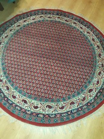 Okrągły wełniany dywan, ręcznie tkany!!!
