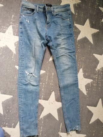 Spodnie jeansowe męskie rurki Zara bershka