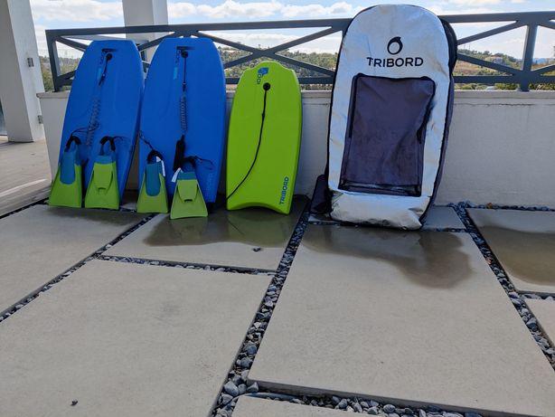 bodyboards +2 pés de pato+ funda