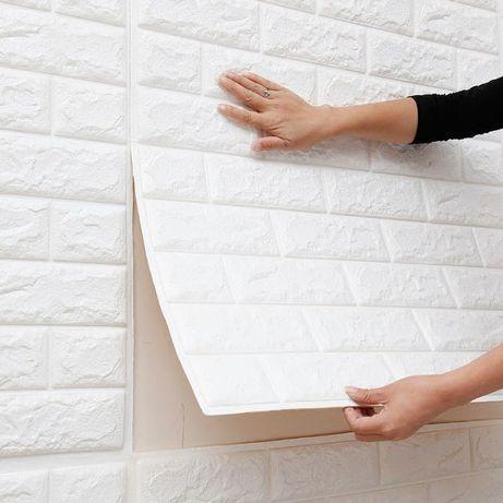3Д обои панели для стен под кирпич и дерево. Самоклейка. НОВИНКА