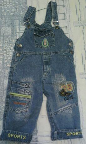 Комбинезон джинсовый(2-4года).