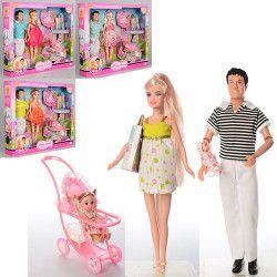 Кукла DEFA беременная с KENом, коляска с ребёнком, аксессуары (8088)