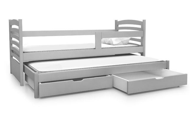Łóżko podwójne OLI z dolnym spaniem + materace !