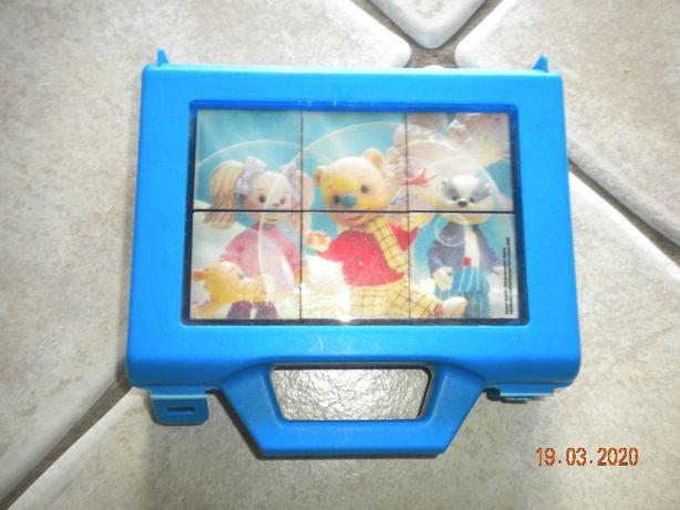 Klocki Miś Rupert w walizeczce - Block Puzzle.