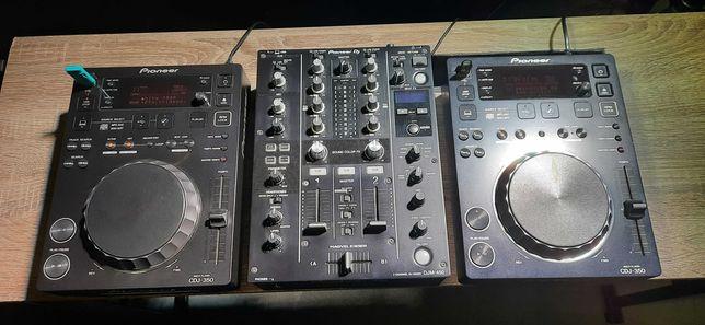 pioneer DJM 450 plus 2 decki pioneer CDJ 350 stan idealny jak nowe