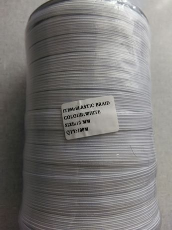 Резинка біла 10мм.