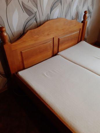 Łóżko podwójne dębowe