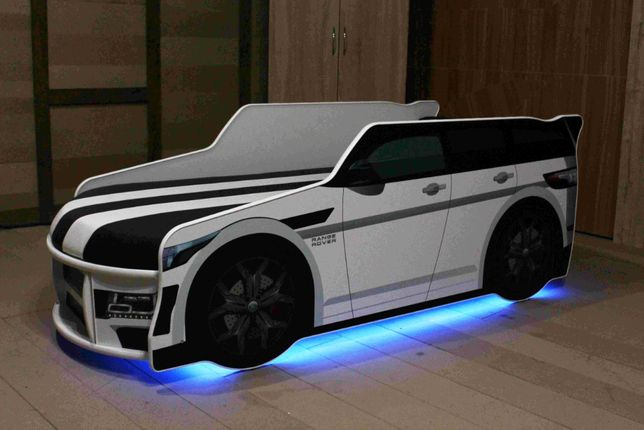 Кровать машина Премиум + Новинка Led подсветка + Бесплатная доставка