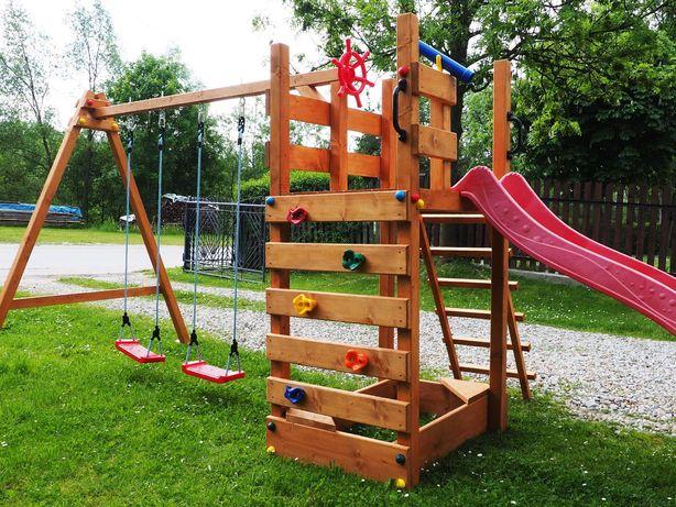 Plac Zabaw Dla Dzieci Drewniany Ogrodowy Domek Ślizg Huśtawki