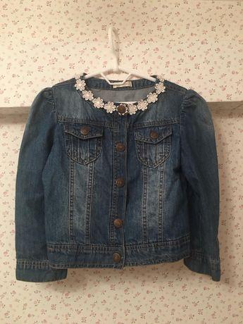 Zara Джинсовая куртка для девочки  4-6 лет