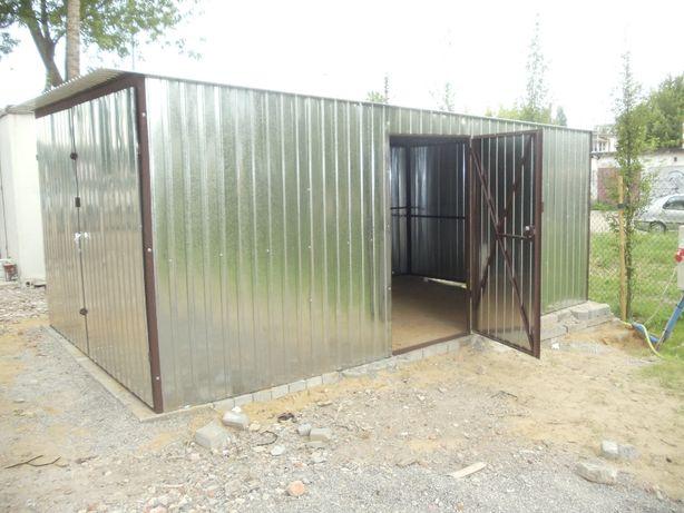 Garaż blaszany 3x5 z dodatkowymi drzwiami I gatunek Dostawa Gratis