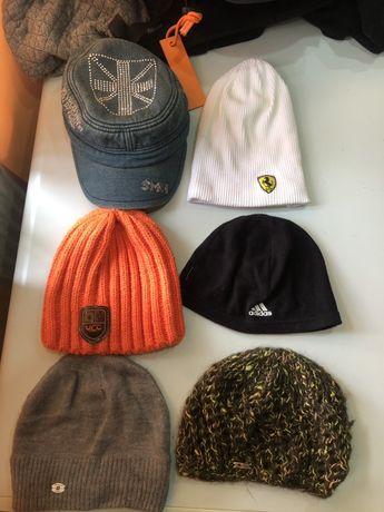 6 разных шапок. Все новые!