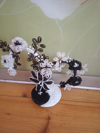 Дерево из бисера Инь Янь.Подарок.