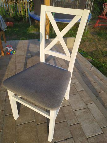 Krzesła Abra meble białe 6 szt