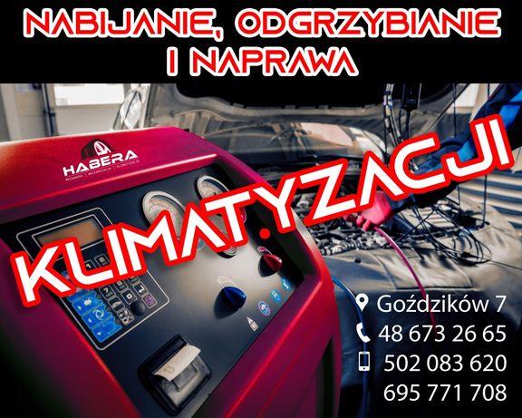 Klimatyzacja samochodowa. Nabijanie Odgrzybianie Naprawa r134a r1234yf