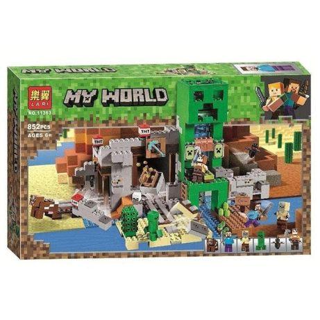 Конструктор Майнкрафт Шахта Крипера LARI 11363 l аналог Minecraft LEGO