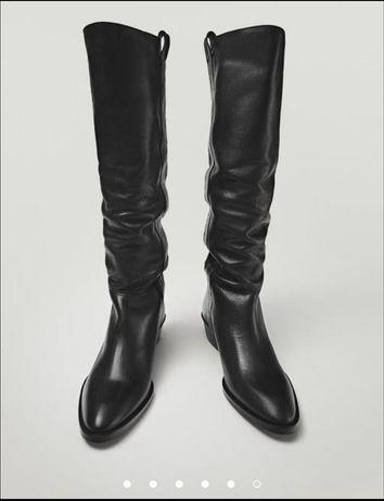 Шикарные кожаные сапоги казаки Massimo Dutti 38 размер