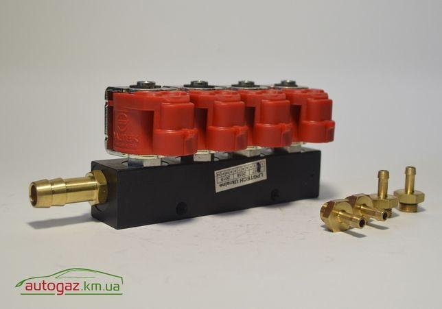 Газовые форсунки Valtek 4 цилиндра 3 Ом ГБО
