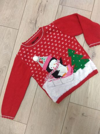 Свитер новогодний, рождественский детский свитер, новорічний светр