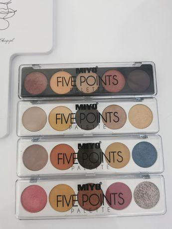 Miyo Five Point Palette/zestaw 4 sztuk paletek cieni do powiek