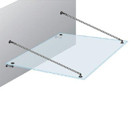 Фурнитура для стекла (стеклянных козырьков и навесов)