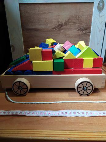 Дерев'яний конструктор+ візок. IKEA.