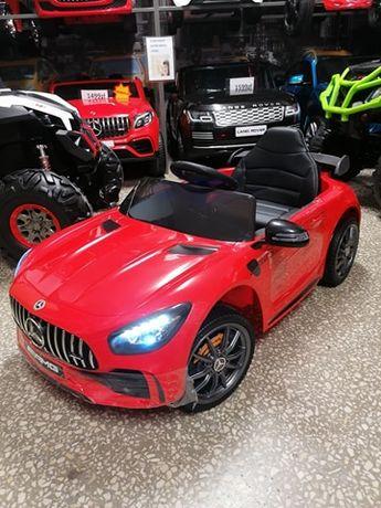 Samochód Mercedes GTR dla dzieci na akumulator koła Eva fotel skóra
