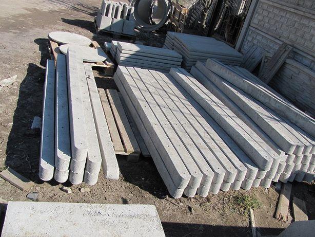 Słupki betonowe pod siatkę