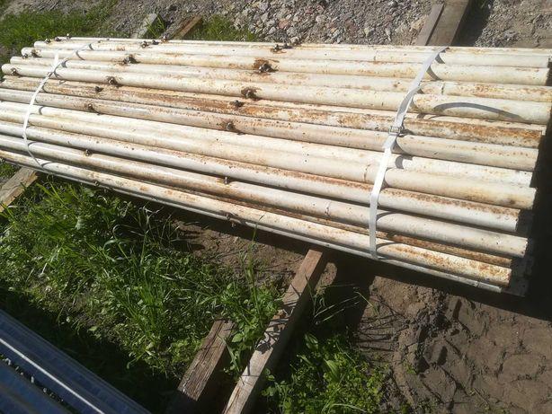 Solidne Słupki ogrodzeniowe  fi-51mm ścianka 3mm dł-2,25m wiata siatka