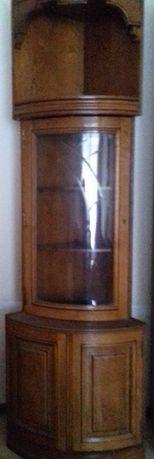 Móvel de Canto trabalhado e antigo em madeira e vidro Novo