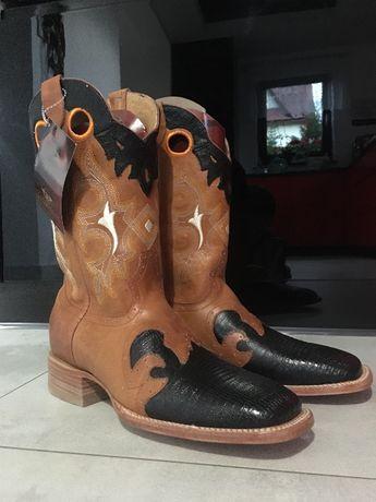 !!! TANIEJ Oryginalne skórzane buty z USA kowbojki