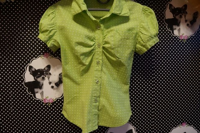 Блуза рубашка для девочки, 6-7 л.