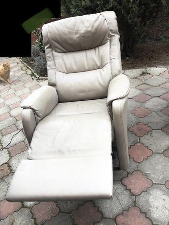 Кресло кожа реклайнер, релакс, из Европы