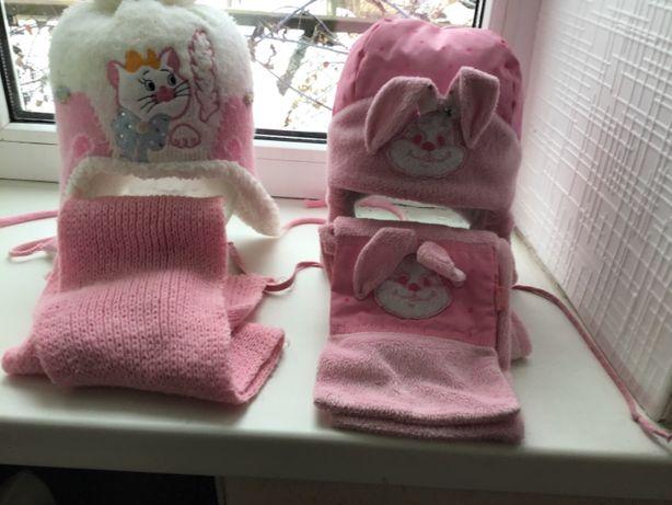 Зимние тёплые детские шапки