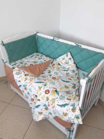 Постільний комплект в дитяче ліжечко 6 ел (7 ел.)