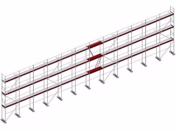 Rusztowania ramowe - rusztowanie elewacyjne 300 m2. Promocja!!!