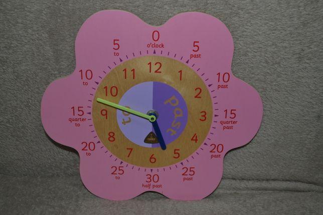 Часы детские  обучающие ELC. Дерево.