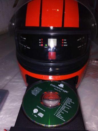 Rádio leitor cds Capacete (novo)