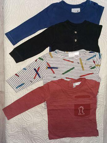 Zestaw koszulek longsleeve Zara Next r. 80