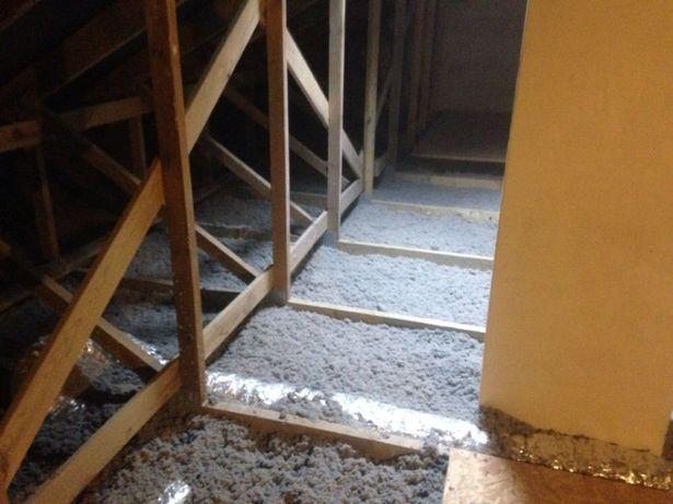 Ocieplanie poddaszy, budynków stropów metodą wdmuchiwania celulozy