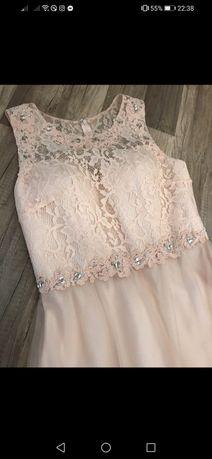Długa suknia LAONA na cywilny, dla świadkowej