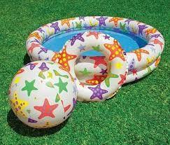 Детский надувной бассейн Intex 59460 (122-25 см) Круг + Мячик